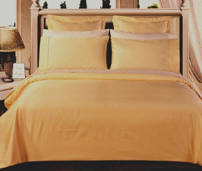 Scotts-sales California-King 8PC Solid Gold 550TC Egyptian cotton bed in a Bag