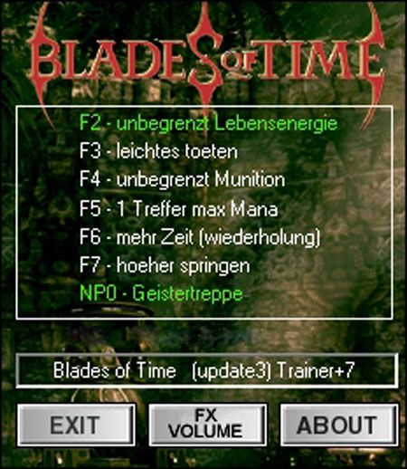bladesoftimetrainer Blades of Time 1.3 +7 Trainer