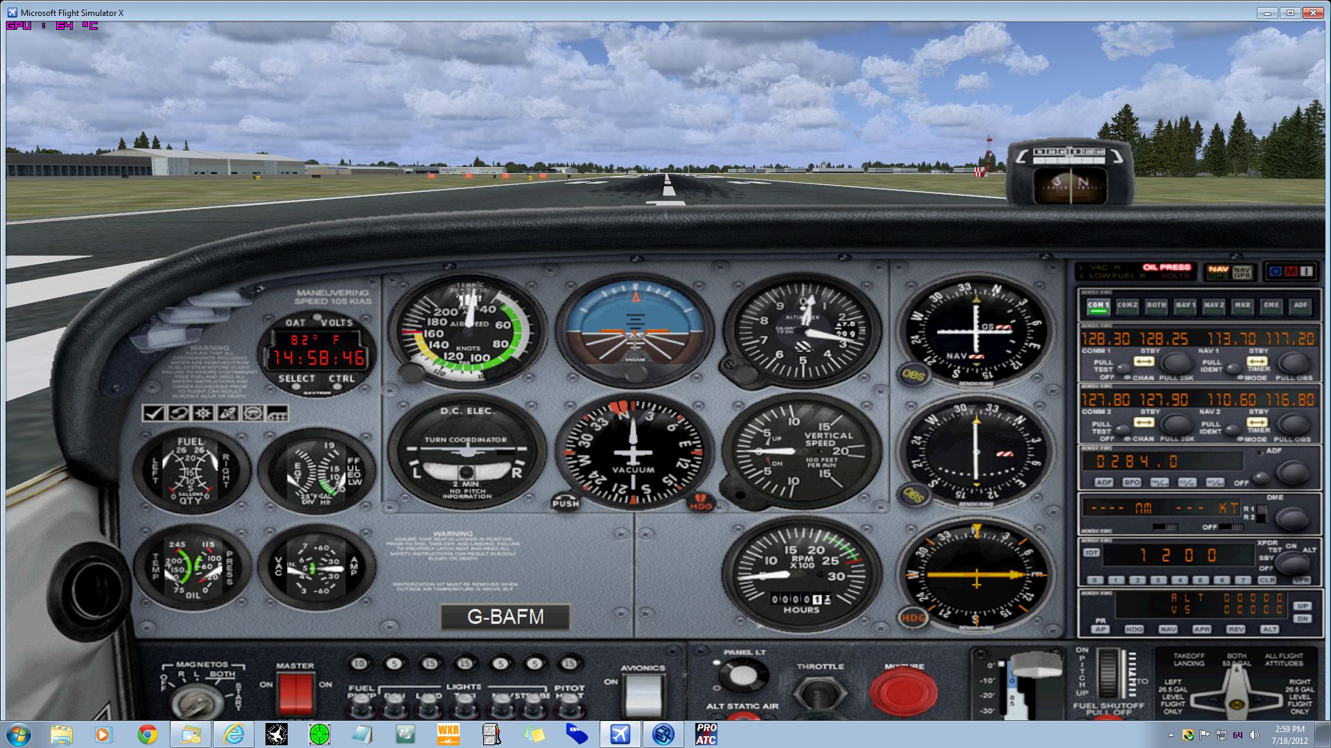 Captain Sim Forum Misc 2006 Commander With A Dome Light Circuit Issuefuse Panelswitches 777 Will Apear At Same Spot Where Cs172 Located Engines Are Not Running Rat Is Deployed Switches Off In