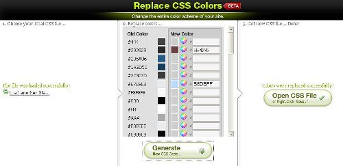 Editor CSS Colores